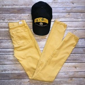 Angry Rabbit Mustard Skinny Jeans 26
